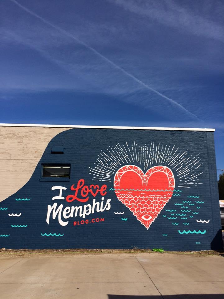 UAP i love memphis mural