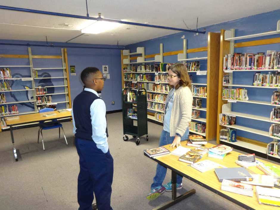 Sara First, Grizzlies Prep Academy Library