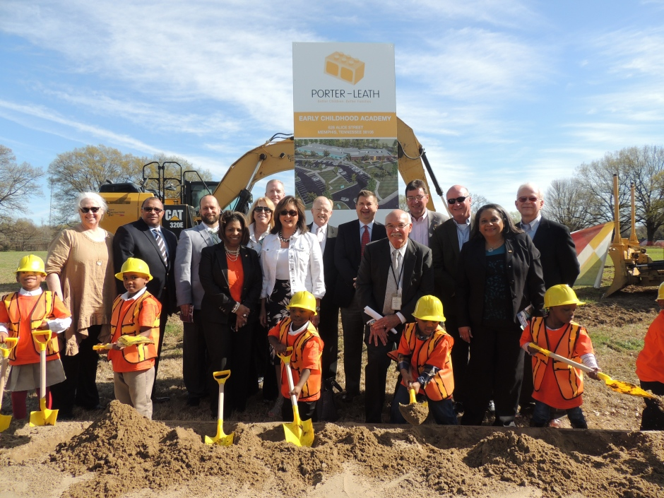 Porter Leath Early Childhood Academy groundbreaking, South Memphis
