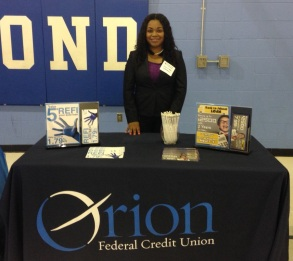 Account Services Manager Alexia Cummings gave classroom presenetations on Career Day.