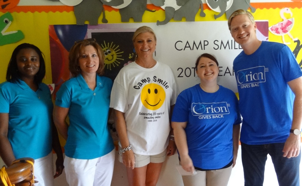 Michelle Kelley, Orion Gives Back, Camp Smile Collierville