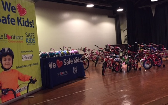 SCS's Back to School Family Affair with SafeKids and Orion - bike donation